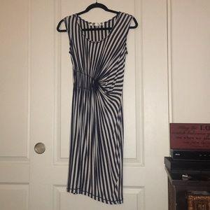 Hardly worn midi stripe dress